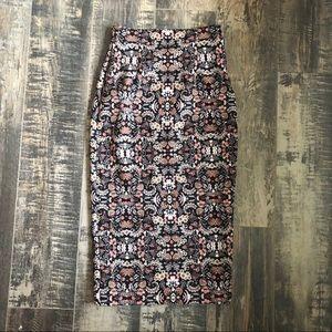 ZARA very detailed midi pencil skirt